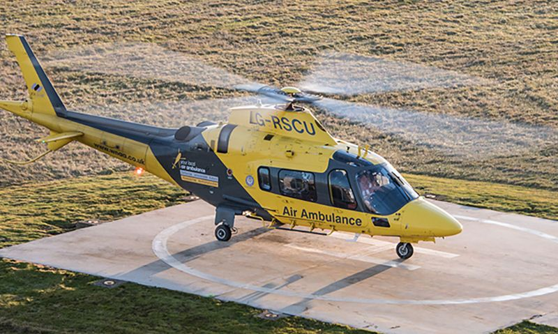 The Air Ambulance Service helicopter