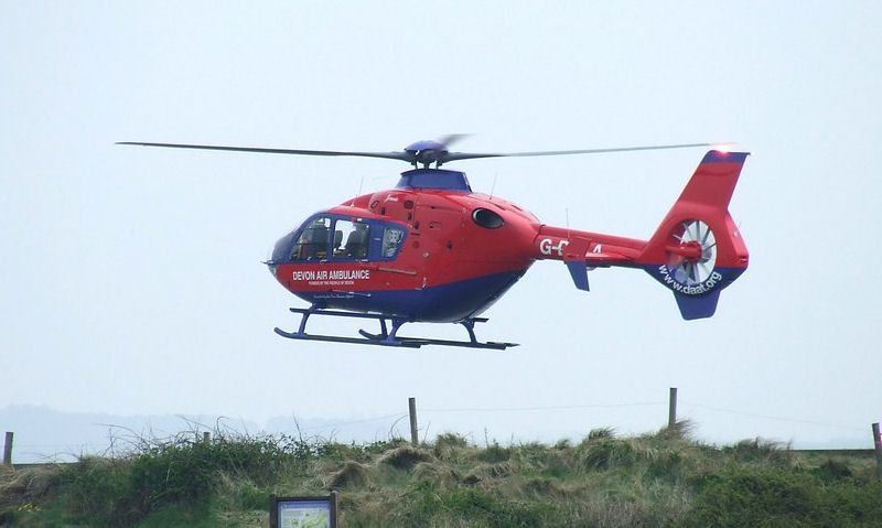 Devon Air Ambulance helicopter