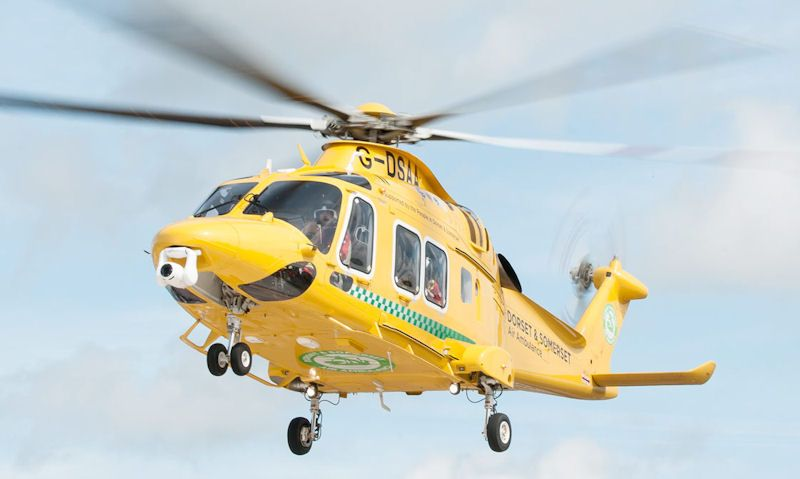 Dorset and Somerset Air Ambulance helicopter