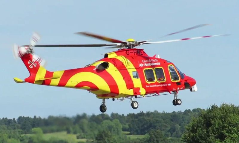 Essex & Herts Air Ambulance helicopter