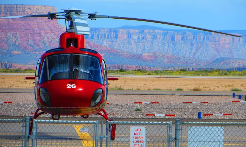 Grand Canyon Helicopter Airbus H125 sitting on Las Vegas heliport