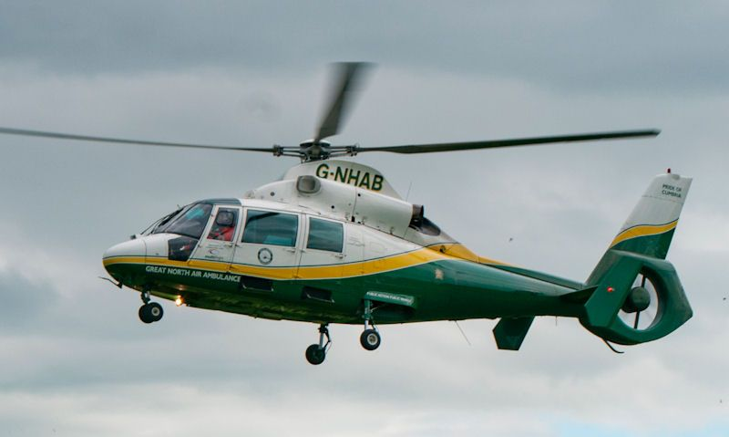 Great North Air Ambulance helicopter