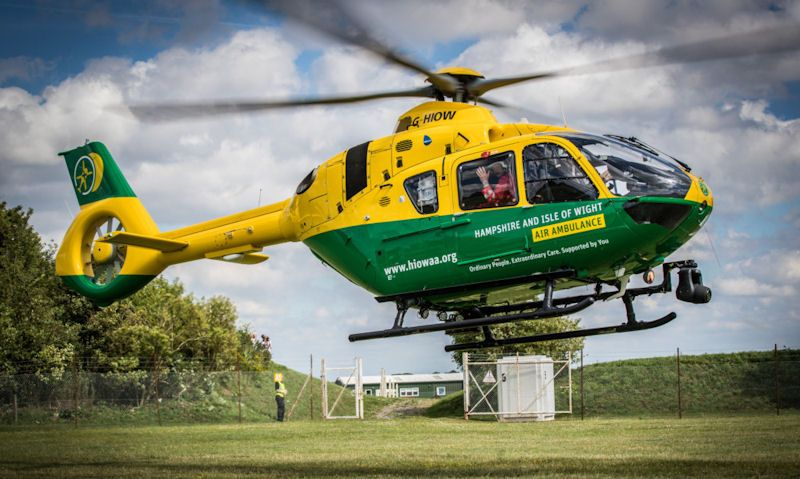 Hampshire & Isle of Wight Air Ambulance helicopter