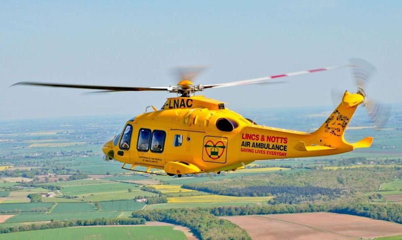 Lincolnshire & Nottinghamshire Air Ambulance helicopter