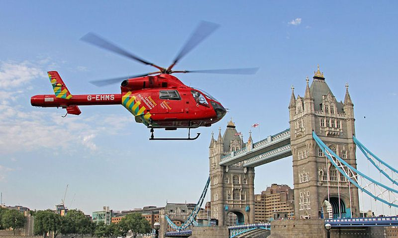 London's Air Ambulance helicopter