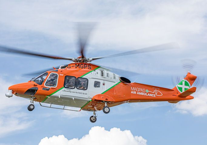 Magpas Air Ambulance helicopter