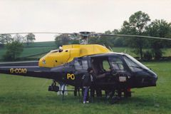 inspecting police helicopter