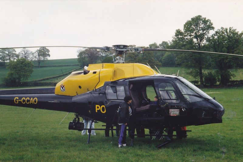 Me, aged 13 years inspecting helicopter before ride