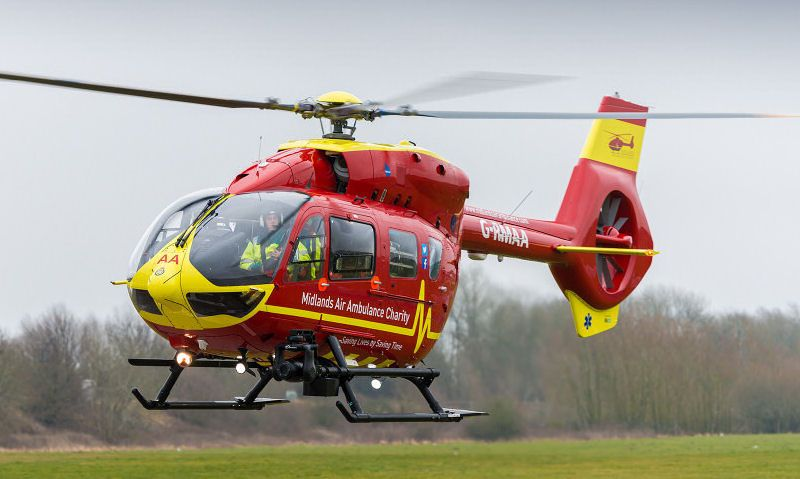 Midlands Air Ambulance helicopter