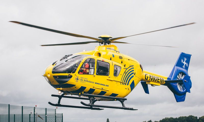 North West Air Ambulance helicopter