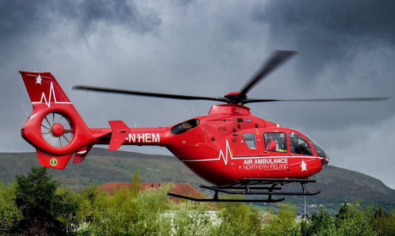 Northern Ireland Air Ambulance helicopter