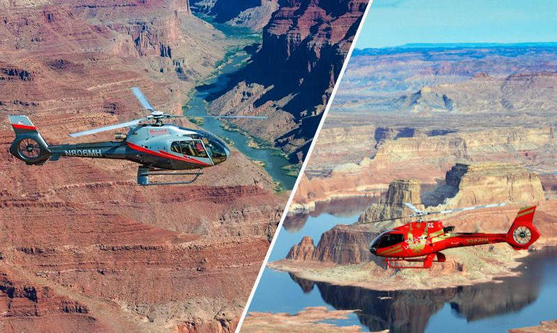 Papillon, Maverick helicopters over the Grand Canyon