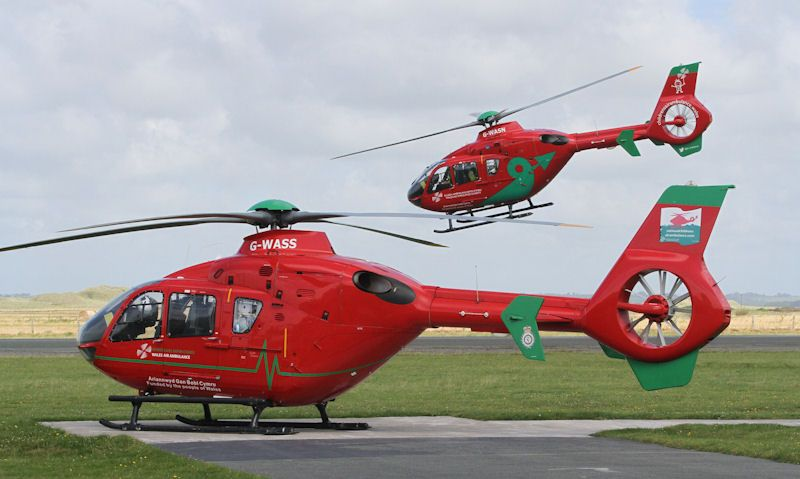 Wales Air Ambulance helicopter